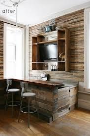 reclaimed wood kitchen backsplash designsponge before amp after salvaged wood bar