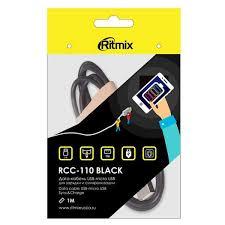 Кабель microUSB <b>Ritmix USB</b> Type-А-microUSB <b>RCC</b>-<b>110</b> Black в ...