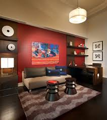 decorating office walls home office view in gallery red accent wall in the contemporary home office ban 1 02 designlines laufen pro