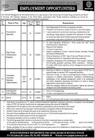 jobs in pmu lrmis board of revenue punjab published in jang pmu lrmis board of revenue punjab
