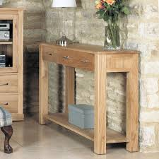mobel oak console table aston solid oak hidden