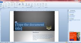 how to add cover pages to word 2010 2013 documents guide however you don t necessarily have to choose a cover page from the templates to add one to your document you could always set up your own original cover