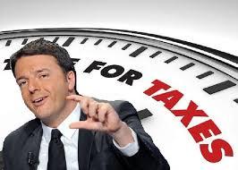 Risultati immagini per renzi abbassa le tasse