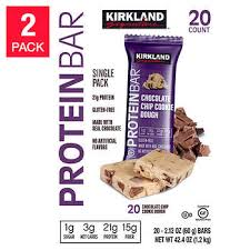 Kirkland Signature <b>Protein Bars</b>, <b>Chocolate</b> Chip Cookie Dough, 20 ...