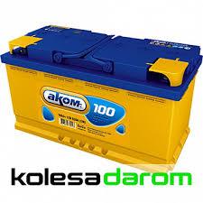 """Купить аккумулятор легковой """"<b>АКОМ</b>"""" <b>100Ач п</b>/<b>п</b> в Елабуге недорого"""