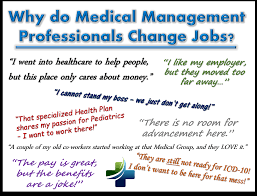 why do medical management health care professionals change jobs