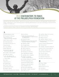 2010 contributors to the philadelphia foundation by the 2010 contributors to the philadelphia foundation by the philadelphia foundation issuu