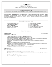 manager resume office manager resume