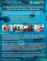 internships and reus fall reu program at the bermuda institute of ocean sciences bios