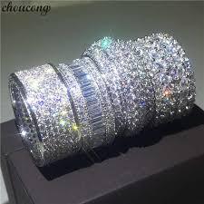 choucong <b>Full</b> Pave <b>set</b> 250pcs Stone 5A Zircon stone 10KT White ...