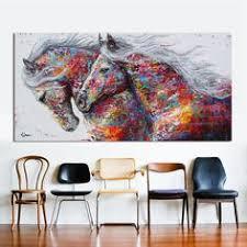<b>HDARTISAN Canvas Wall Art</b> Three Horses Painting Animal ...