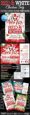 red and white christmas party flyer templates by creativb red and white christmas party flyer templates clubs parties events