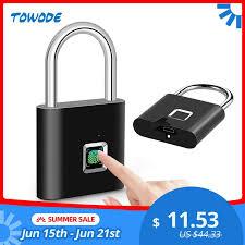 US $11.53 74% OFF|<b>Towode Keyless USB Rechargeable</b> Door ...