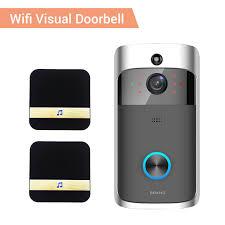 Video <b>Door Bell WIFI</b> HD Waterproof 720P <b>Visual Camera</b> +2pcs ...