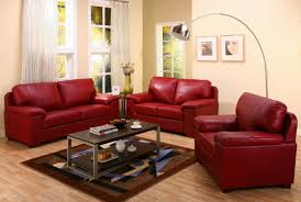breathtaking small living room interior furniture design with modern red leather sofa set using mahogany wooden astounding red leather couch furniture