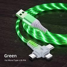 <b>LEEHUR 3 in</b> 1 1M Luminous Phone Cable 2A 1M USB Type C ...