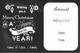 christmas gift certificate templates chalkboard christmas printable