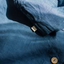 комплект детского постельного белья из льна, синий - EN LIN