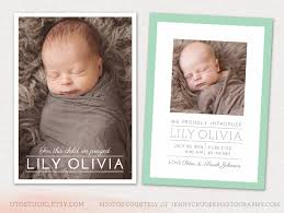 cutest deals for birth announcement template birth announcement template cb011