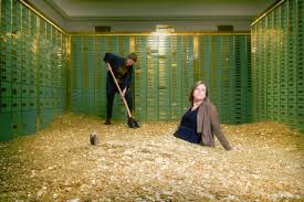 Image result for bank vault with money