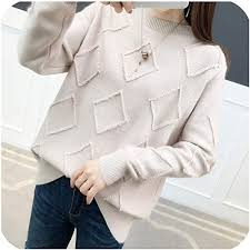 Amazing offer on Sweater Female Students Solid Color Long ...