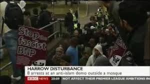 the sioe demo at harrow mosque hit the headlines when uaf supporters started trouble
