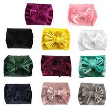 New Children Girls Velvet <b>11 Colors</b> Holiday Hair Band Headwear ...