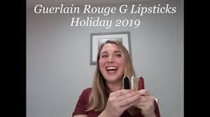 <b>Guerlain Rouge G</b> Lipsticks - Goldenland Collection <b>Holiday</b> 2019 ...