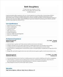 receptionist resume template     free word  pdf document download    front desk medical receptionist resume