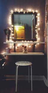 diy ikea hack vanity put shelves on wall beside mirror cheap vanity lighting
