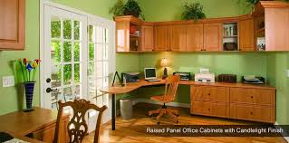 build a home office premier office cabinets with coco finish raised panel office cabinets with candlelight build your own office