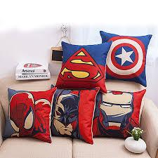 high quality europe super hero healthy cotton embroidery cushion pillow office sofa pillows car cushion home cheap office sofa