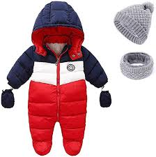 ZHANGXX <b>Newborn Baby Snowsuit Infant</b> Winter Coat Hooded ...
