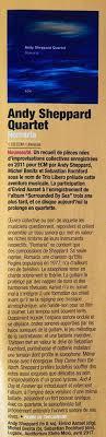 <b>Andy Sheppard</b> - <b>Andy Sheppard</b> Quartet <b>Romaria</b> - CHOC Album ...