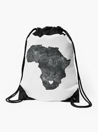"""""""<b>I Love South</b> Africa"""" Drawstring Bag by MellowGroove 