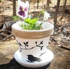 <b>Bird</b> Hand Painted <b>Flower Pot</b> | Backyard crafts | Painted <b>flower pots</b> ...