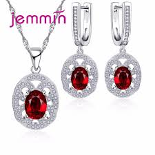 Jemmin <b>New</b> Fine Wedding Jewelry <b>Sets</b> For Brides Woman <b>925</b> ...