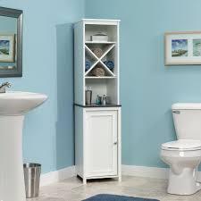 white linen cabinet for bathroom amazoncom sauder linen tower bath cabinet soft white finish kitchen am