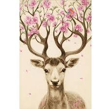 <b>Sika Deer DIY</b> 5D Diamond Embroidery Painting Cross Stitch Craft ...