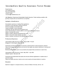 quality assurance resume sample cipanewsletter cover letter sample qa test technician resume sample qa test