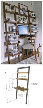 diy desk made with all boards small space office ana white build a leaning wall ladder desk free and easy diy project and furniture plans more avenue greene grey ladder storage office wall