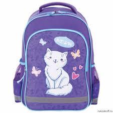 <b>Рюкзак ПИФАГОР SCHOOL</b> для начальной школы <b>WHITE</b> CAT ...