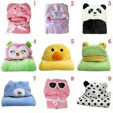 <b>Animal Hooded</b> Blankets In <b>Baby</b> Towels & Washcloths for sale | eBay