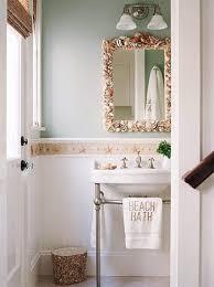 coastal bathroom designs: bathroom mirror with shells monogram beach bath towel bathroom mirror with shells