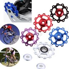 <b>1pcs</b> 11T <b>Bike</b> Aluminum MTB Alloy Bearing Jockey Wheel <b>Rear</b> ...