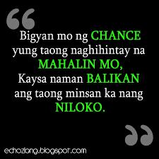Bigyan Mo Ng Chance Yung Taong Naghihintay Na Mahalin Quote
