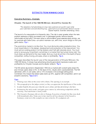 example of an executive summary how to write a good resume summary executive summary template