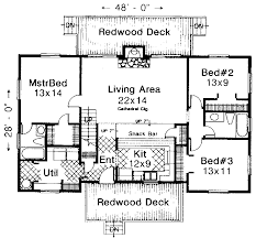 Sturgeon Bay Mountain Cabin Home Plan D    House Plans and MoreTraditional House Plan First Floor   D    House Plans and More