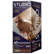 «Studio 3D Holography <b>Стойкая крем-краска для</b> волос №12.08 ...
