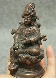 Старый Тибет <b>Фиолетовый</b> Бронзовый сбор лотоса зеленый ...